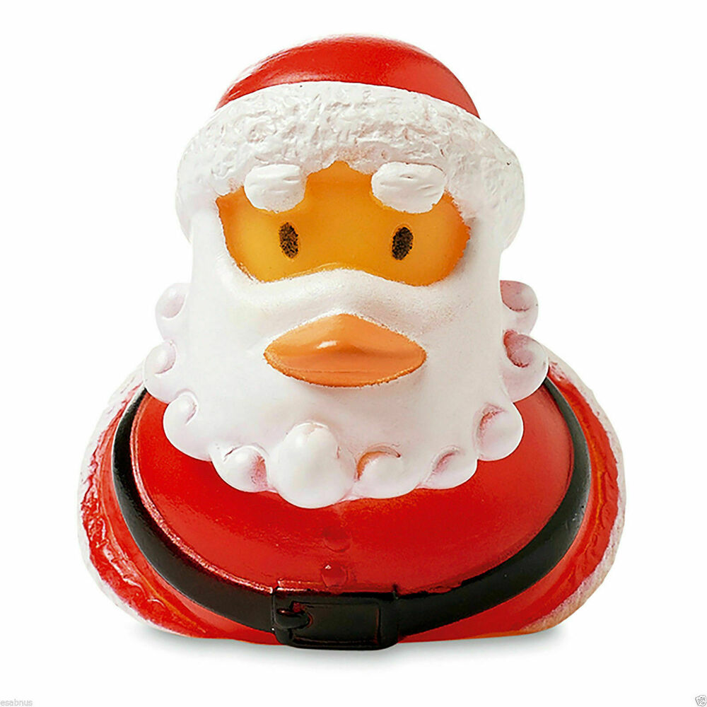 Rubber floating duck santa claus novelty gift stocking