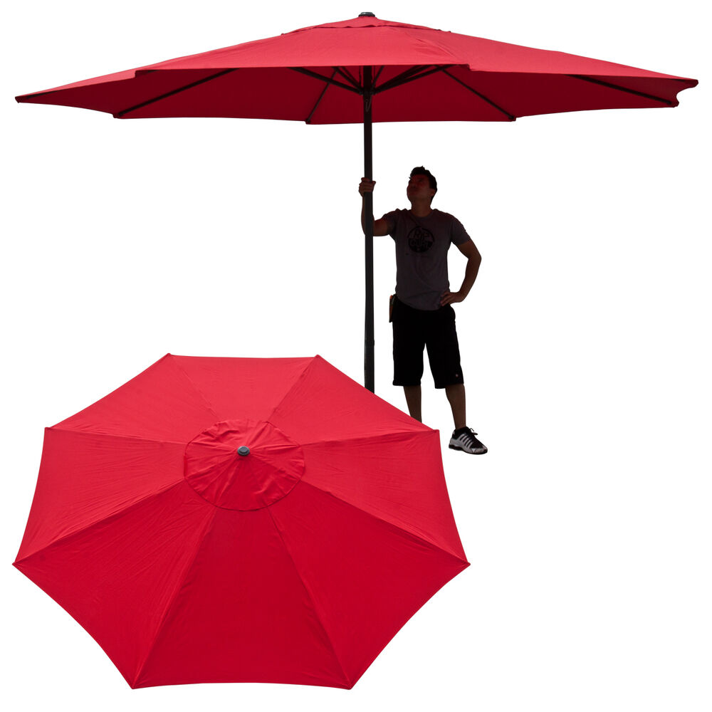 13 Ft Feet Market Patio Garden Umbrella Steel Canopy