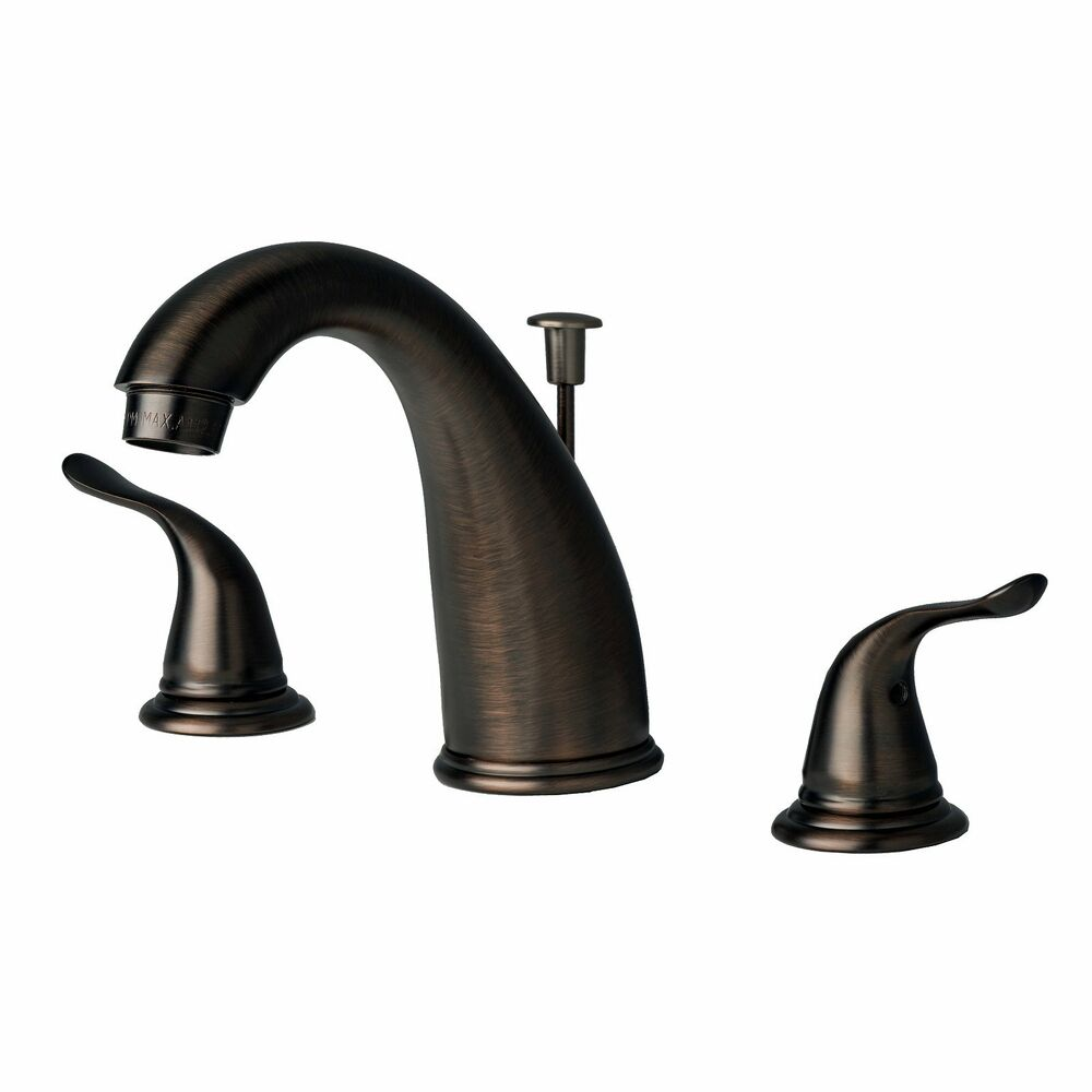 Contemporary Bathroom Widespread Vanity Sink Faucet