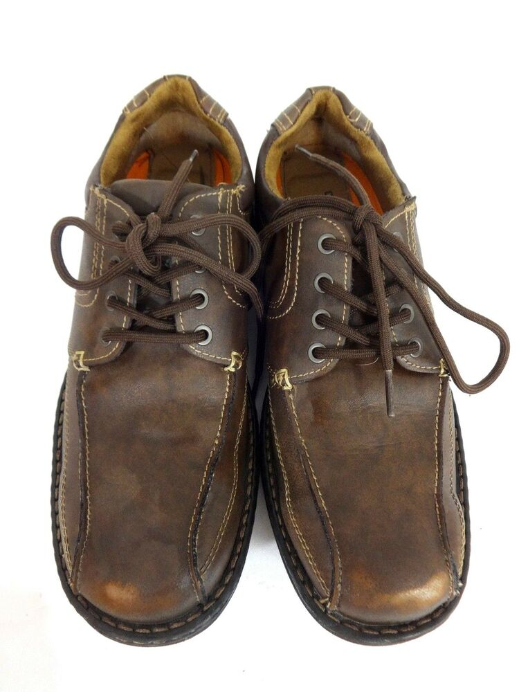 DOCKERS MENS BROWN LEATHER OXFORDS DRESS SHOES SIZE 8 M   EBay