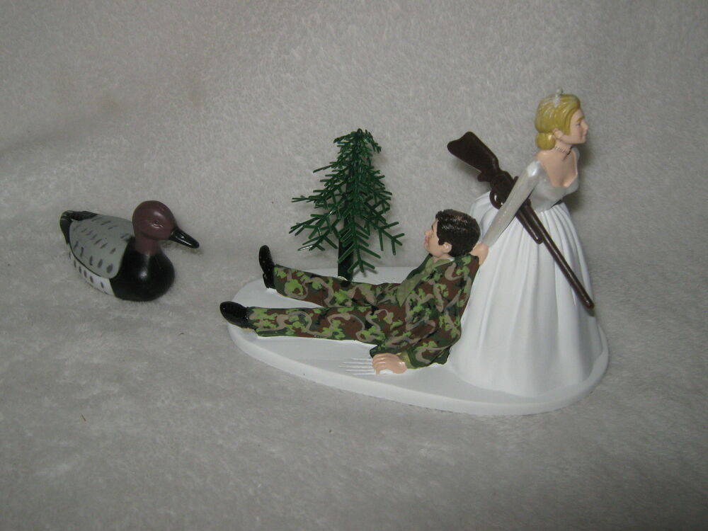 duck hunting wedding cake toppers wedding reception duck fowl bird cake topper camo 13777