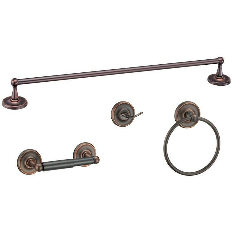 Maxim series oil rubbed bronze bathroom hardware set ebay Oil rubbed bronze bathroom hardware