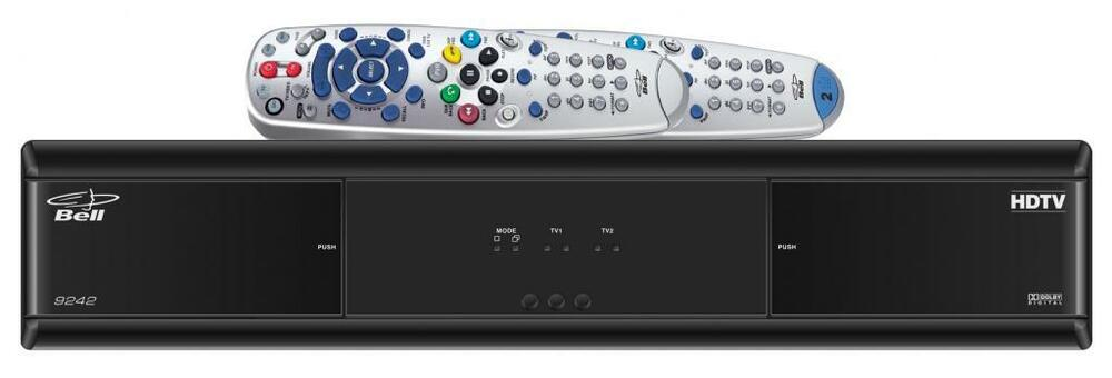 New Bell HD receiver using 2 tv s with 1 reciever how