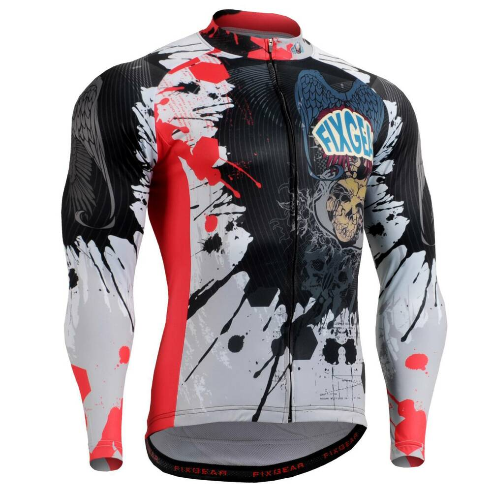FIXGEAR CS-4401 Men's Long Sleeve Cycling Jersey Bicycle ...