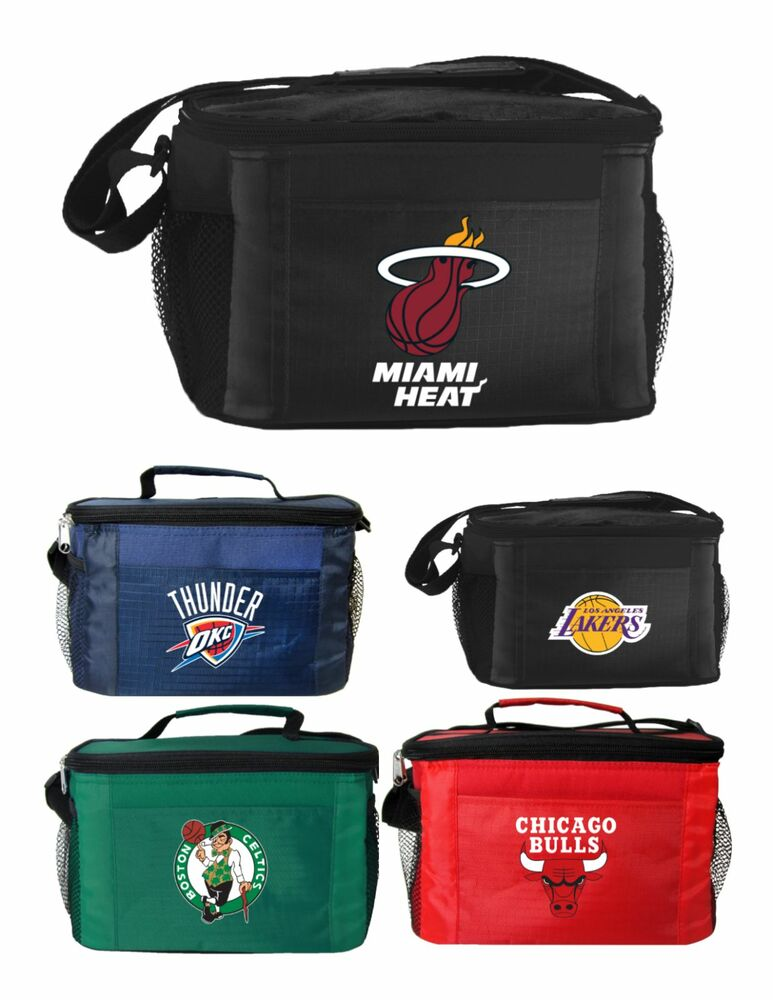 6 Pack Cooler ~ New nba basketball licensed lunch bag insulated box
