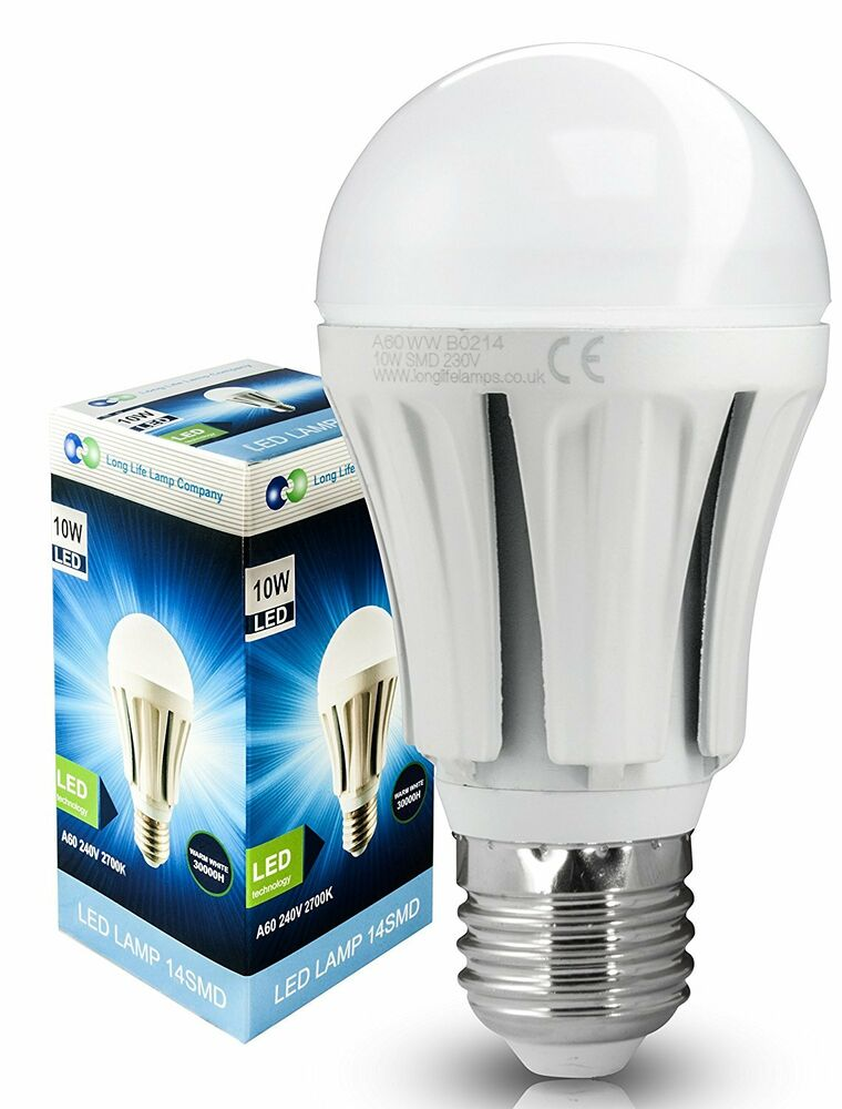 10w e27 led light bulb edison cap warm white very bright 10w 100w ebay. Black Bedroom Furniture Sets. Home Design Ideas