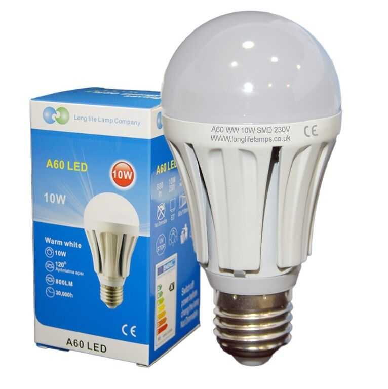 10 watt led light bulb gls 800 lumens edison e27 screw cap beautiful warm white ebay. Black Bedroom Furniture Sets. Home Design Ideas