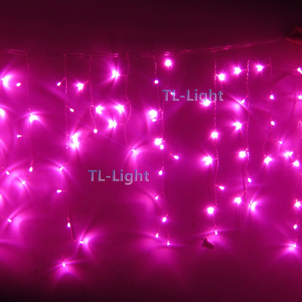 10ft Holiday Living 100 Pink Led Bulb Icicle Indoor