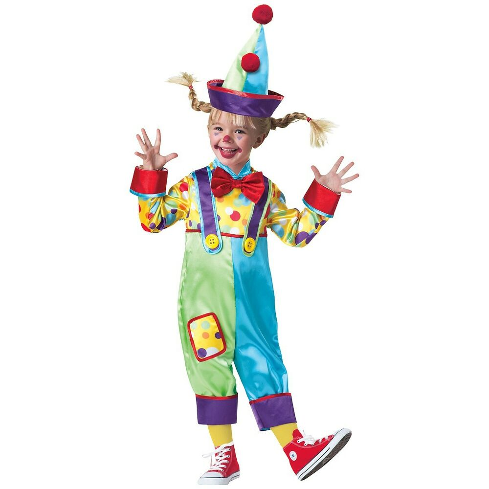 Clown Costumes Toddler Kids Funny Halloween Fancy Dress