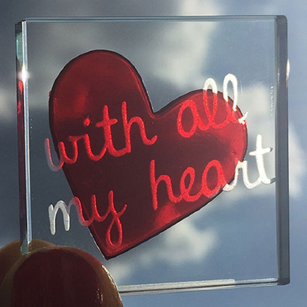 Romantic Ideas For Her: Spaceform With All My Heart Romantic Love Christmas Gift