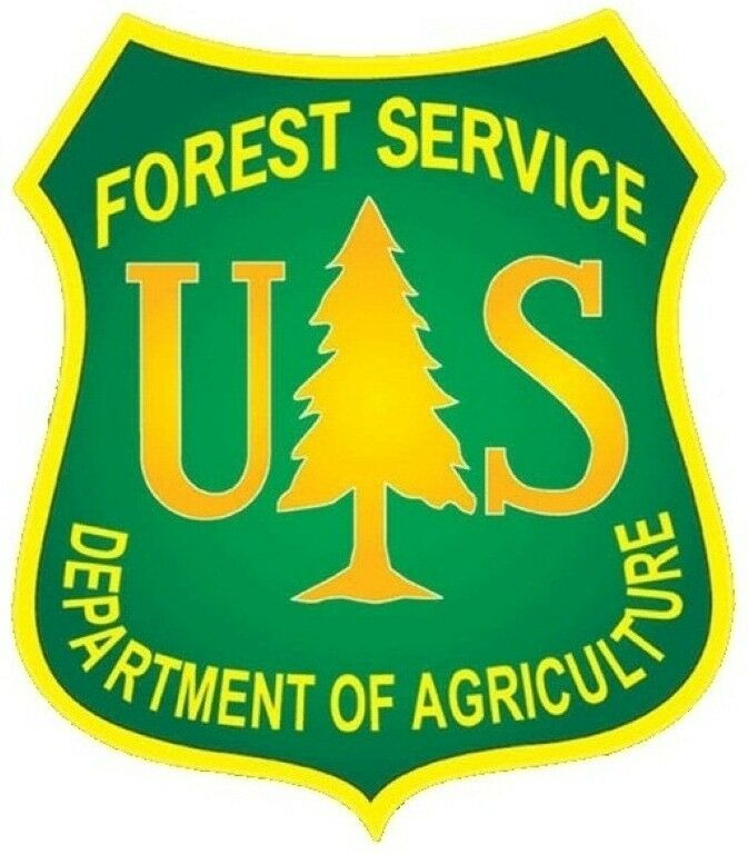 us forest service shield sticker bumper sticker yellow on green ebay. Black Bedroom Furniture Sets. Home Design Ideas