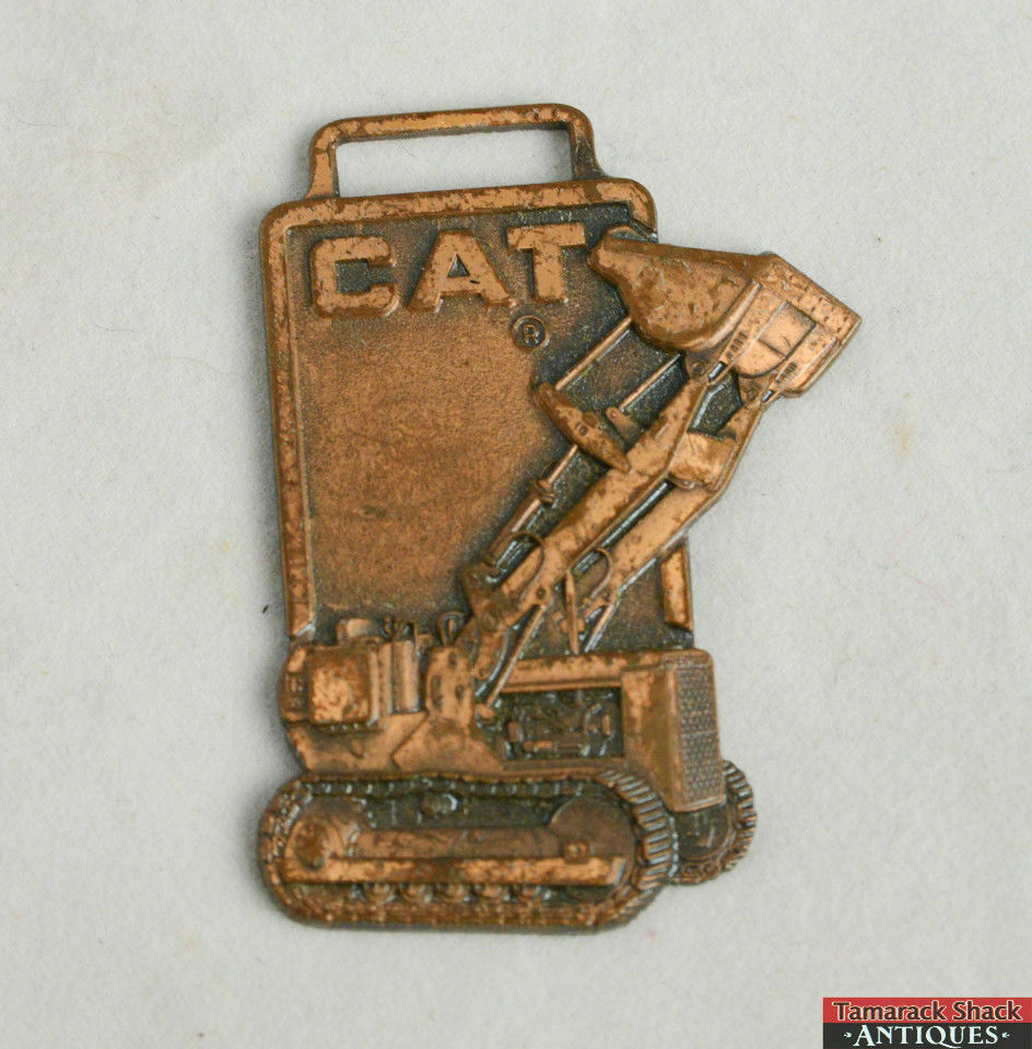 Vintage Caterpillar Bulldozer Crawler Watch Fob Tractor