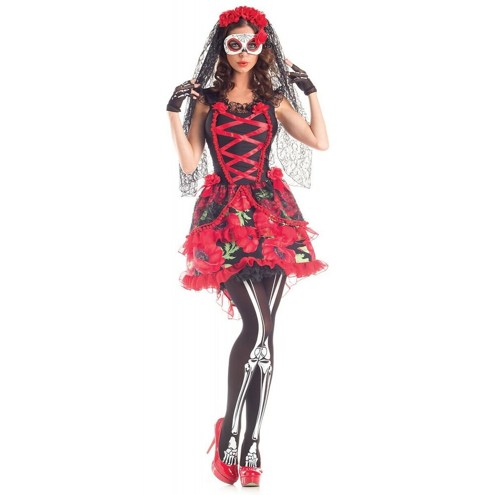 Sugar Skull Costume Dia de los Muertos Day of The Dead ...