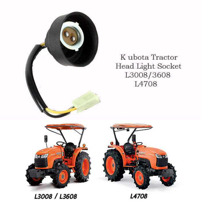 Kubota Tractor Headlight : Use for kubota tractor head light lamp socket l