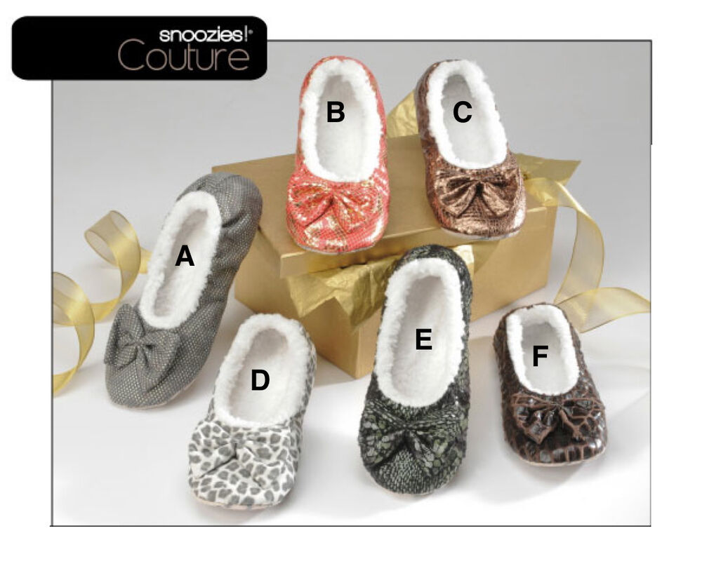 Snoozies couture slippers women girl house shoes no skid machine
