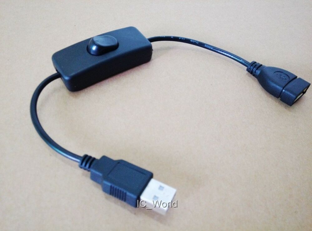 Usb cable with on off switch power control for raspberry