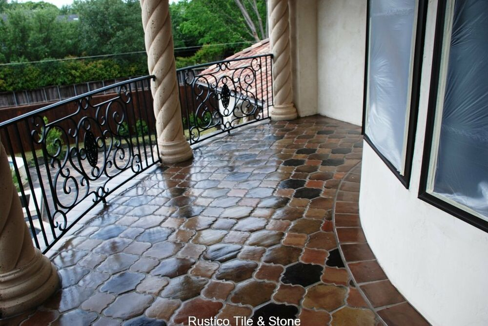 mexican manganese saltillo clay floor tile terra cotta paver terracotta tiles ebay. Black Bedroom Furniture Sets. Home Design Ideas