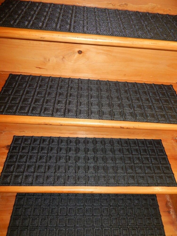 13 Step 9 1 2 X 30 100 Rubber Backing Outdoor Stair Treads Non Slip Ebay