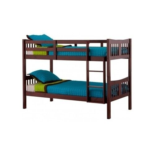 Brown Bunk Bed Kids Bedroom Mattress Bed Frames Furniture