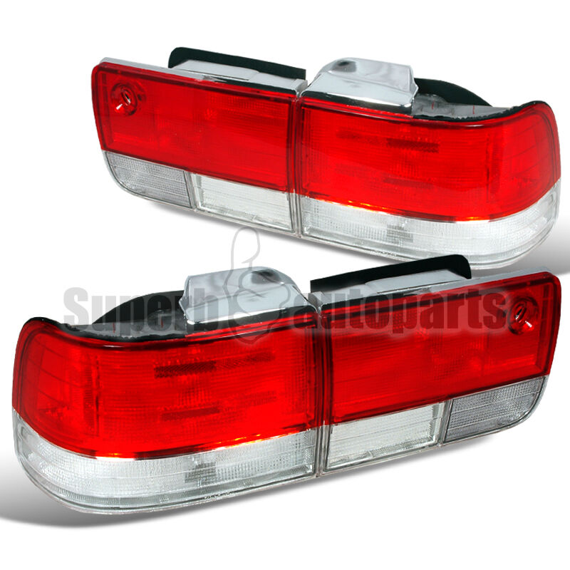 for 1992 1993 honda accord 4dr sedan tail lights depo red. Black Bedroom Furniture Sets. Home Design Ideas