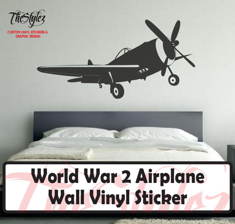 World War 2 Airplane Wall Vinyl Sticker Ebay