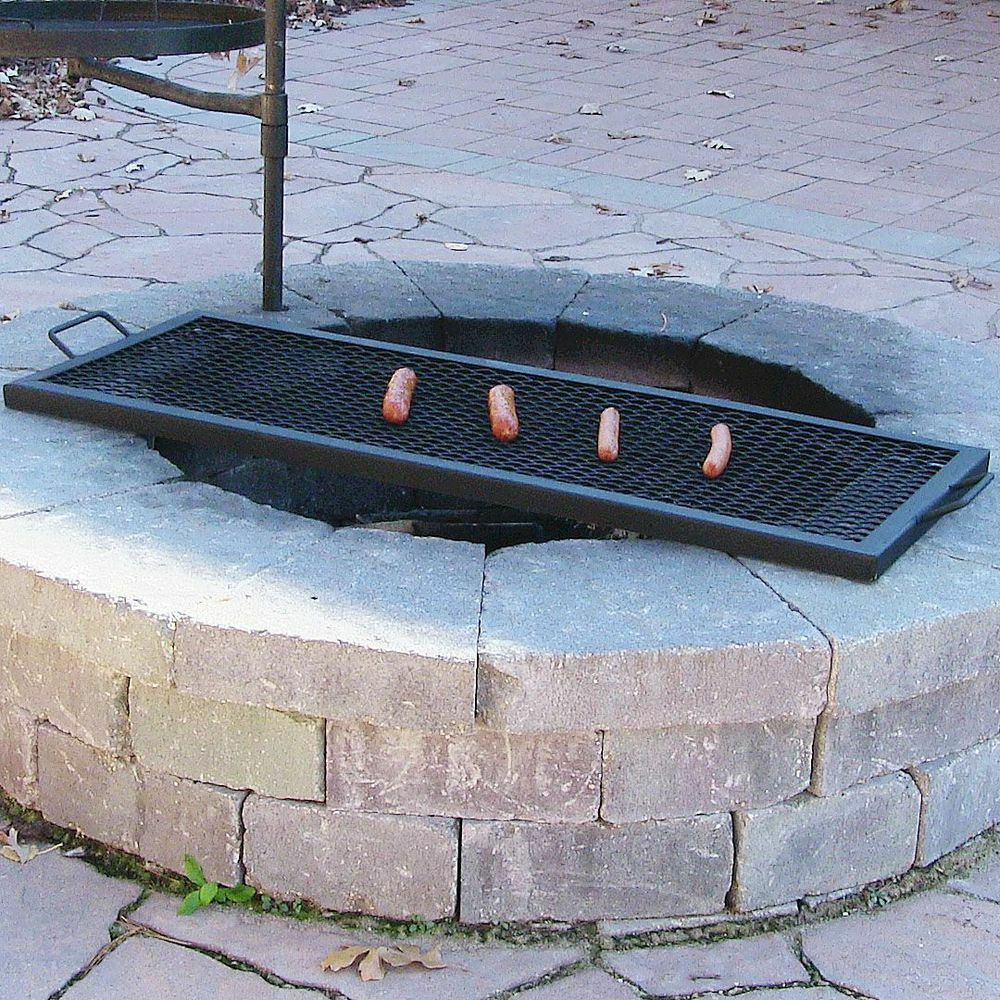 fire pit grate rectangle outdoor wood pit mesh cooking grill grate 29233