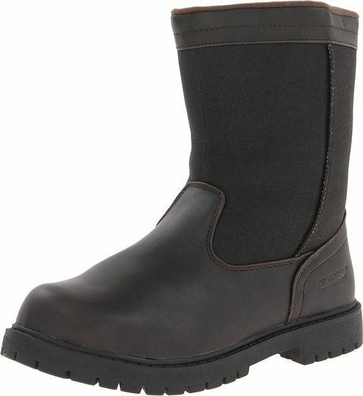 Khombu Canaan Mens Brown Waterproof Winter Snow Side