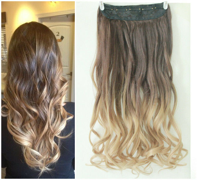 Ombre Hair Extensions  Chocolate Brown  Dirty Blonde