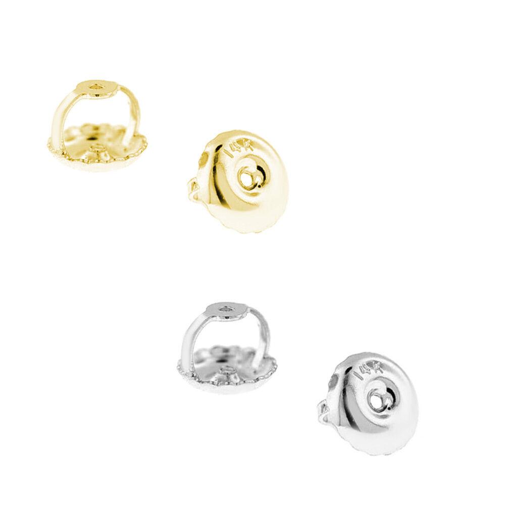 1 pair 0 26 14kt white yellow gold on