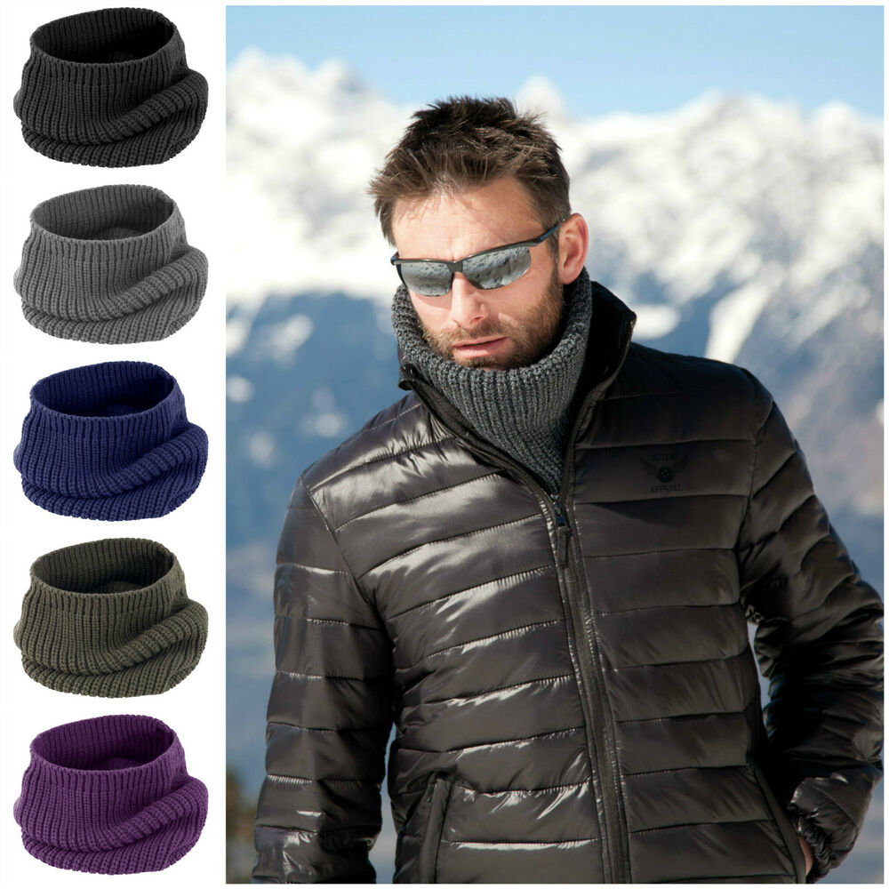 Mens Womens Ladies Snood Chunky Knit Knitted Winter Soft
