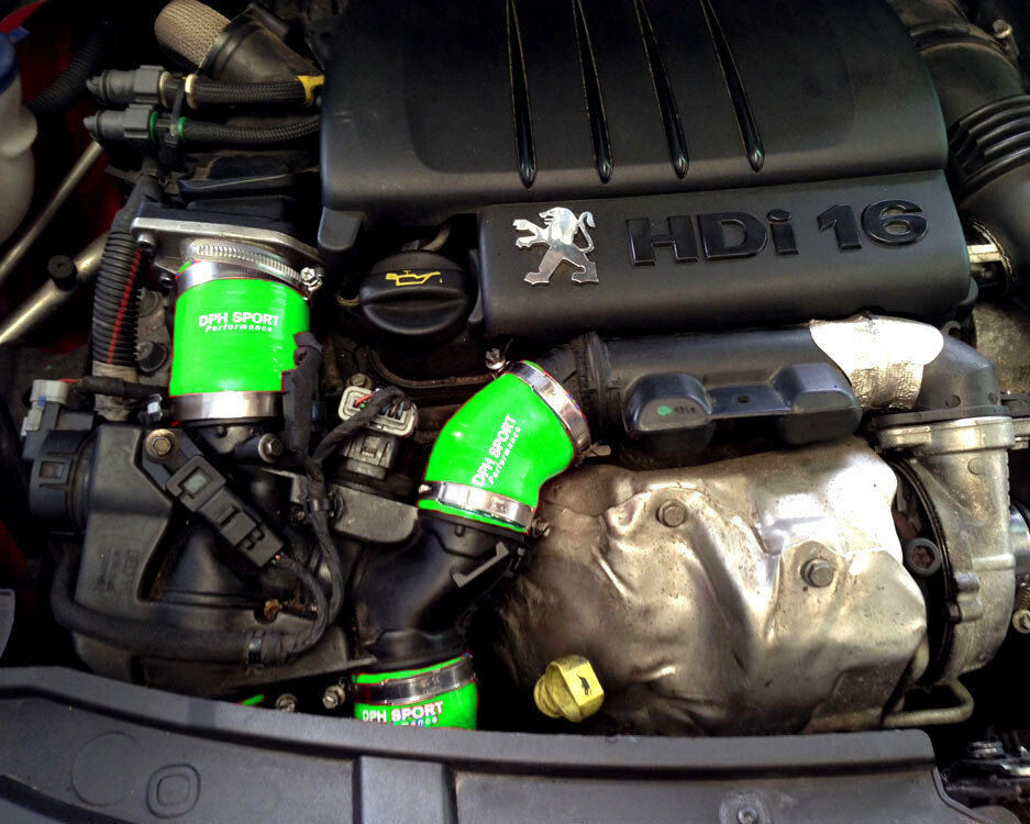 peugeot 207 hdi gt 1 6 110 turbo intercooler silicone boost hose kit green ebay. Black Bedroom Furniture Sets. Home Design Ideas