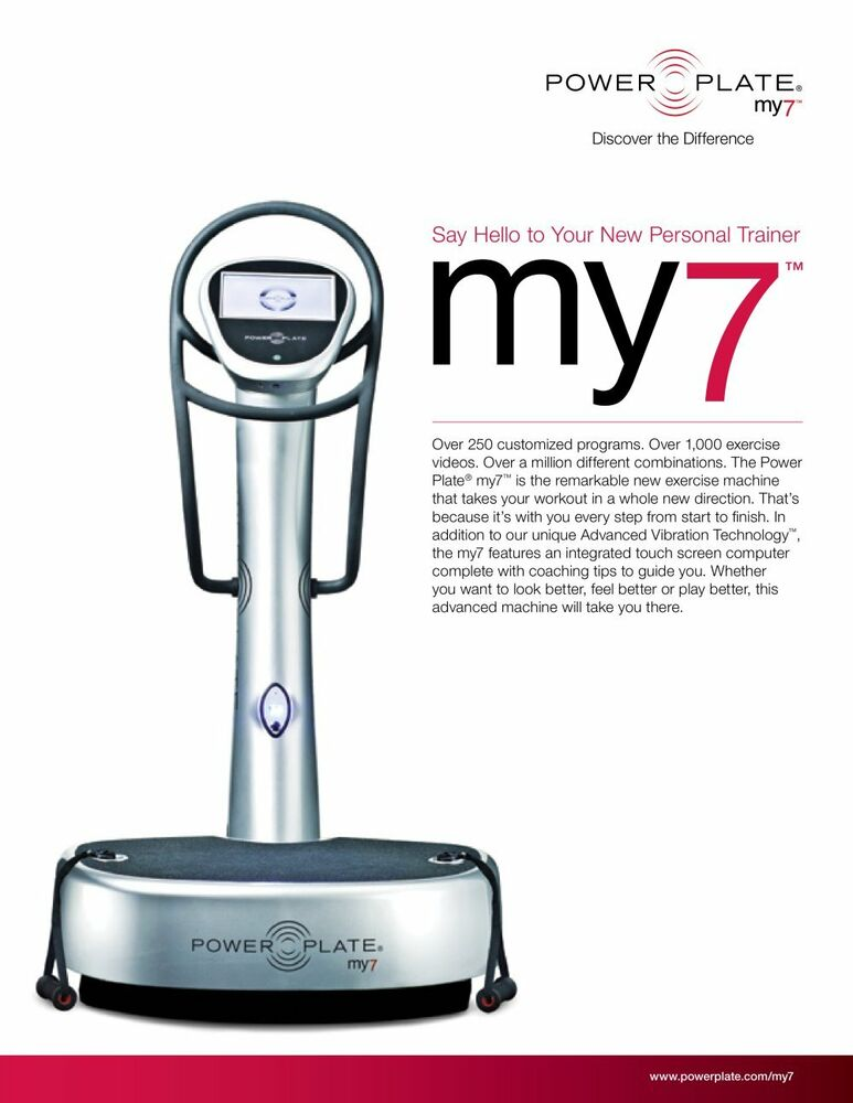 power plate my7 whole body vibration detoxify increase bone density strength ebay. Black Bedroom Furniture Sets. Home Design Ideas
