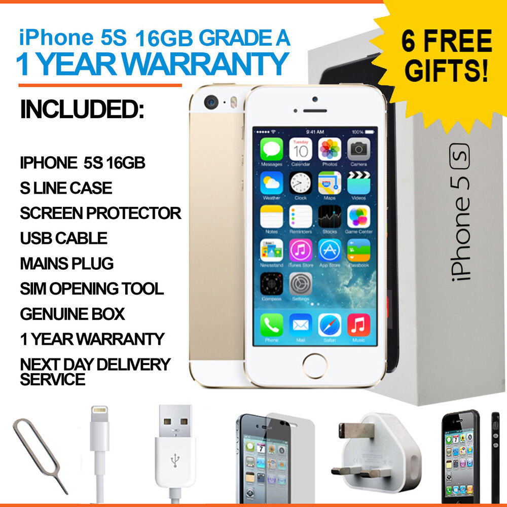 apple iphone 5s 16 gb gold unlocked grade a ebay. Black Bedroom Furniture Sets. Home Design Ideas