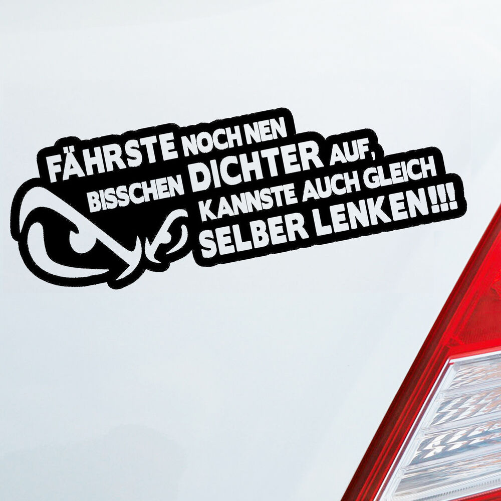 auto aufkleber dichter auffahren selber fahren car fun sticker dub oem jdm 693 ebay. Black Bedroom Furniture Sets. Home Design Ideas