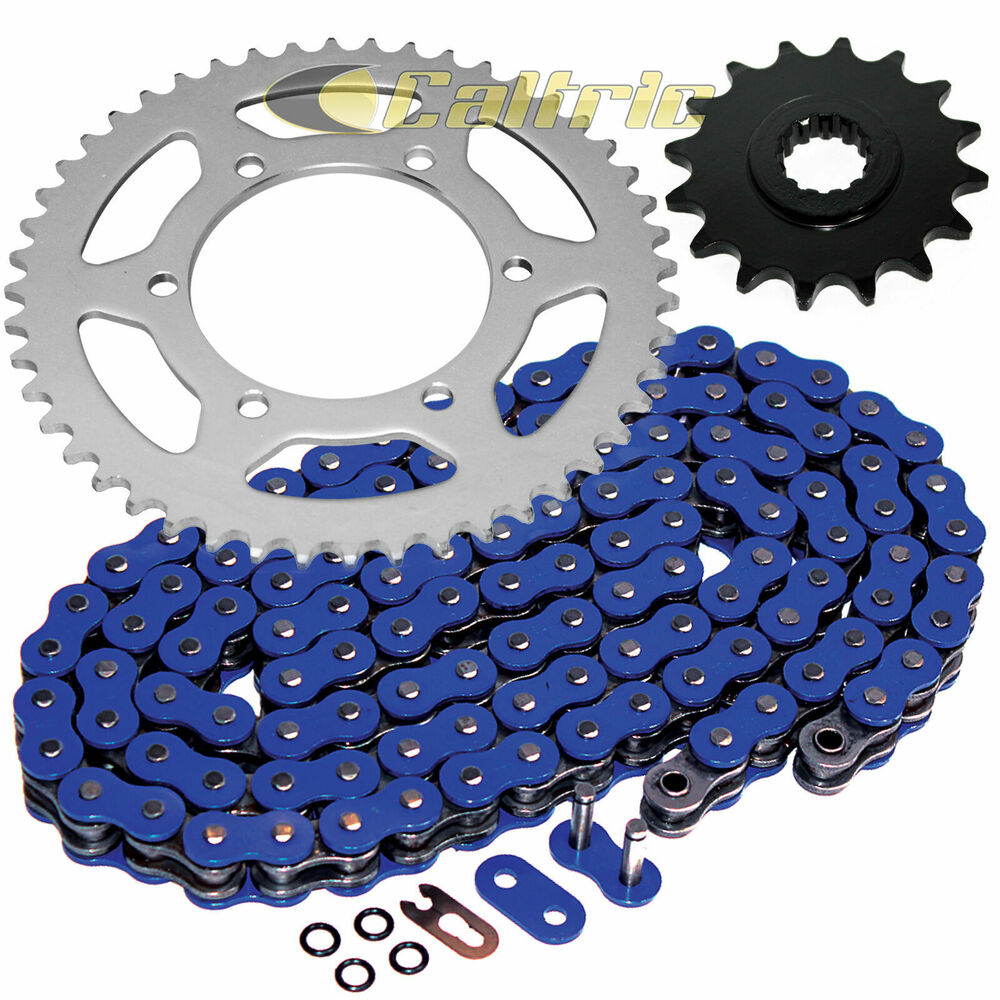 blue o ring drive chain sprockets kit fits yamaha r6 yzf