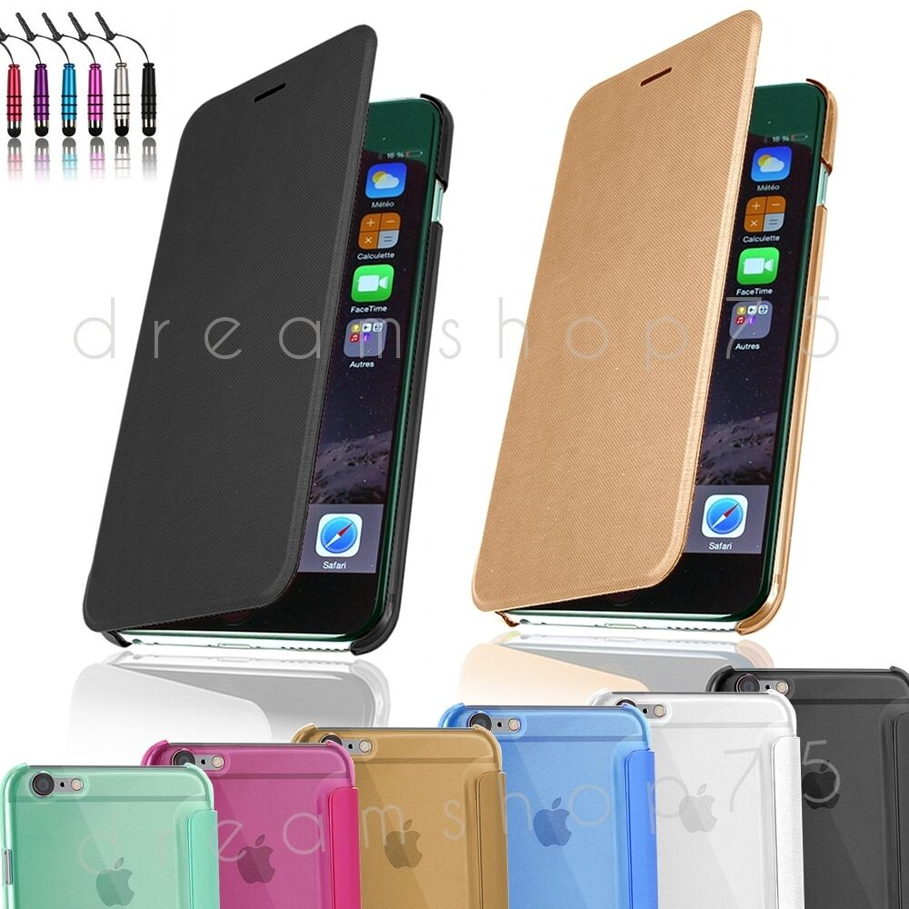 etui coque housse flip cover pour iphone au choix film stylet ebay. Black Bedroom Furniture Sets. Home Design Ideas