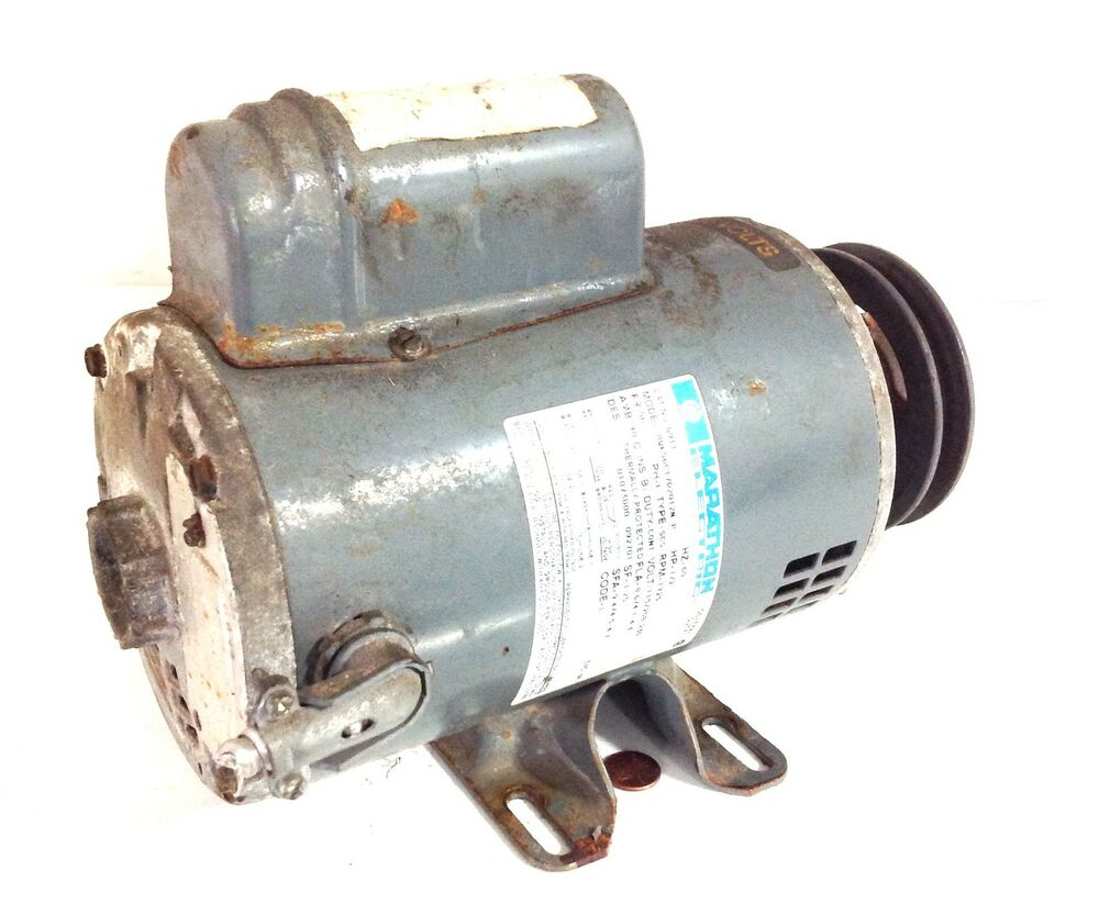 Marathon electric 60hz motor 1 2 rpm 115v for 1 2 hp ac motor