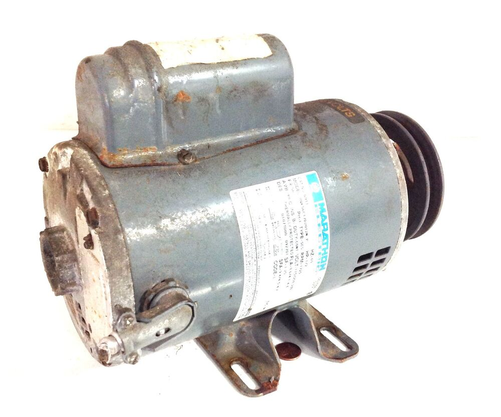 Marathon electric 60hz motor 1 2 rpm 115v for One horsepower electric motor