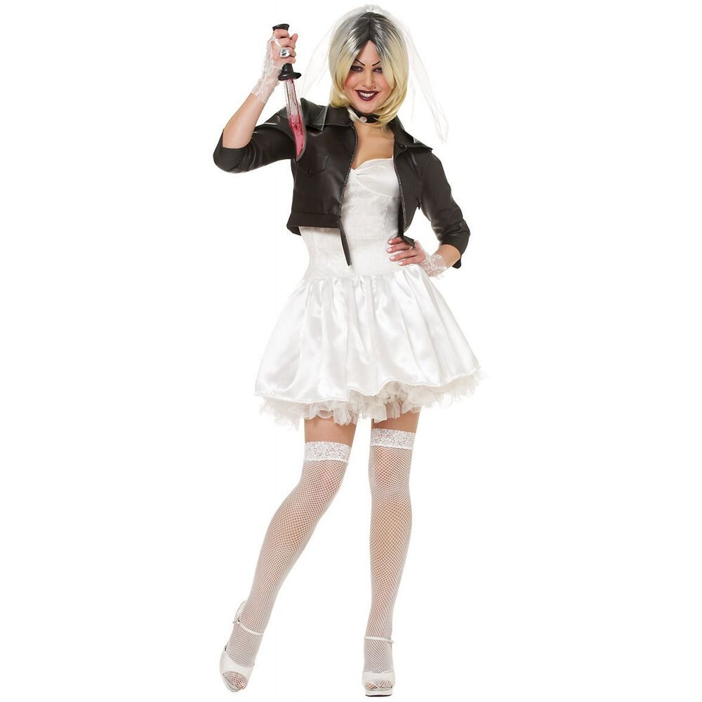 Bride of chucky costume adult scary halloween fancy dress ebay