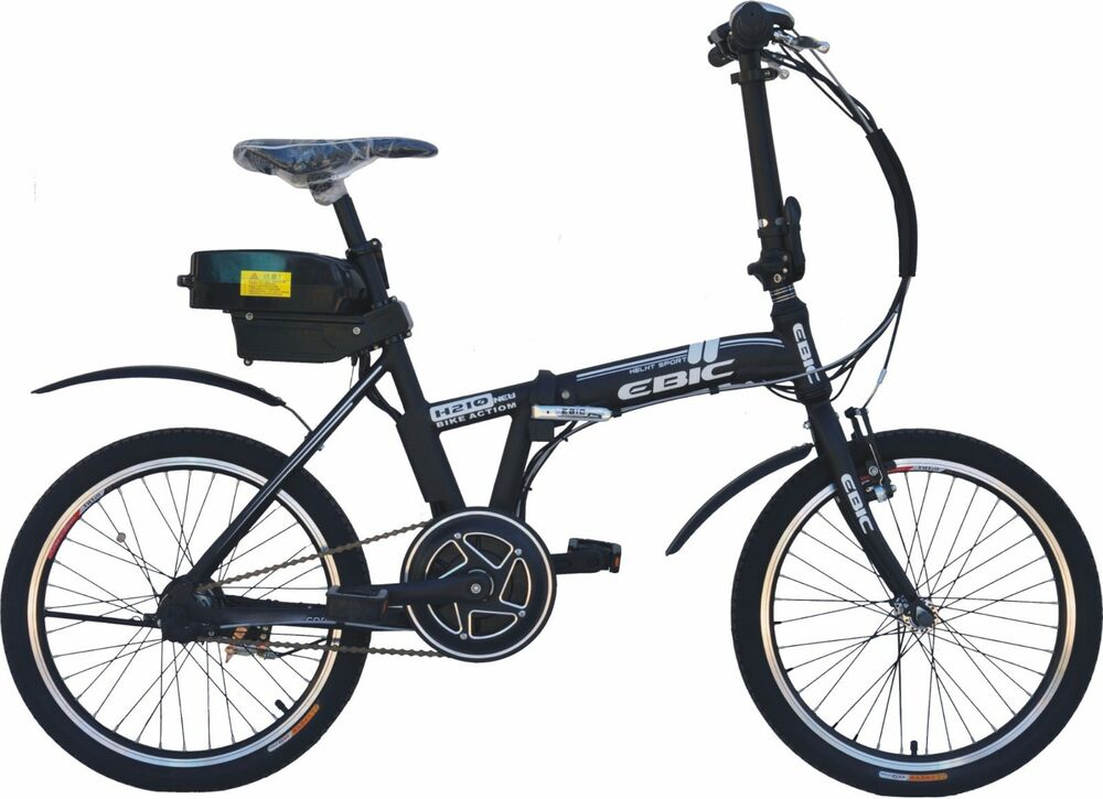 Ebic H520 Black Mid Drive Electric Folding Bicycle Pedal