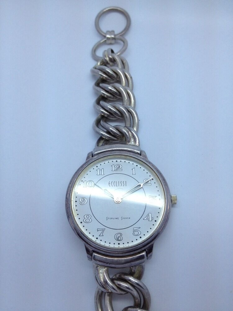 ladys sterling silver ecclissi watch bracelet a8 ebay On watches bracelet