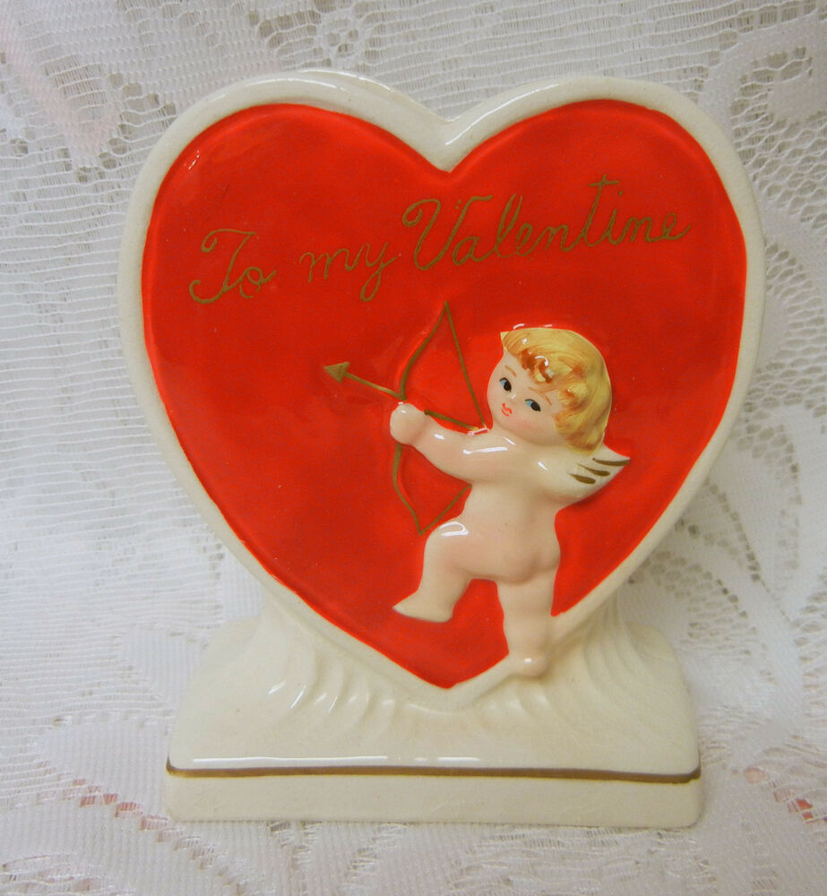 Valentine S Day Heart Cherub Angel Planter Vase Ebay