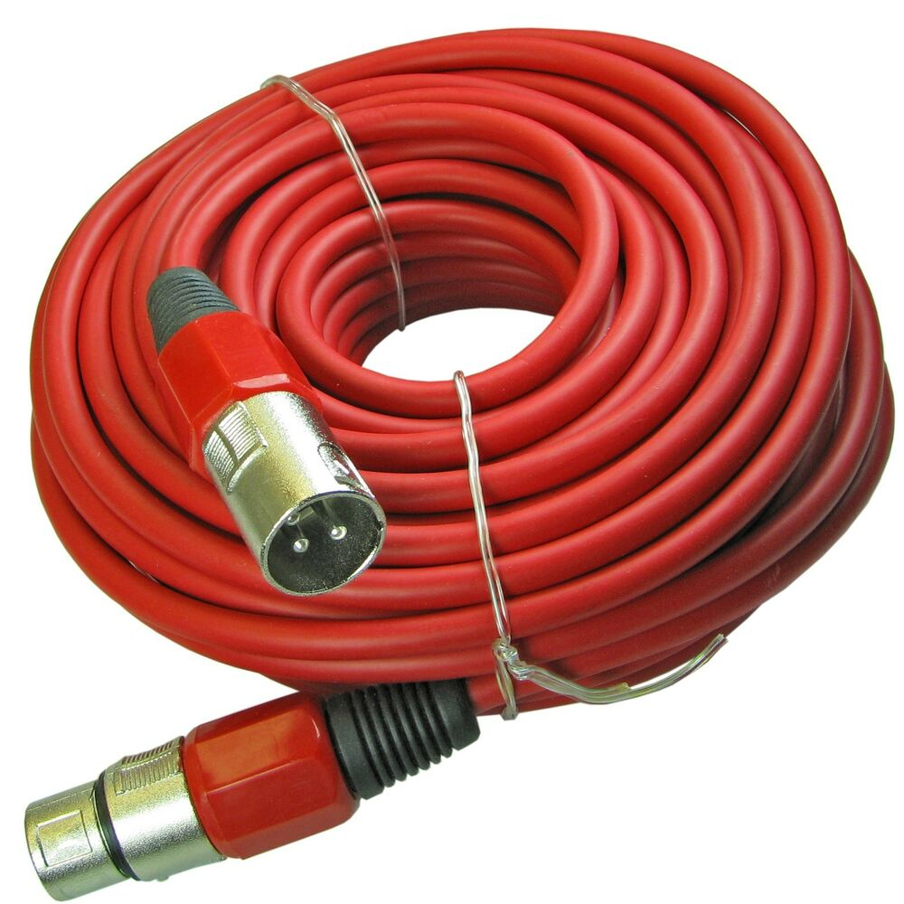 Microphone With Cord : Ft color red xlr pin mic microphone cable cord new ebay