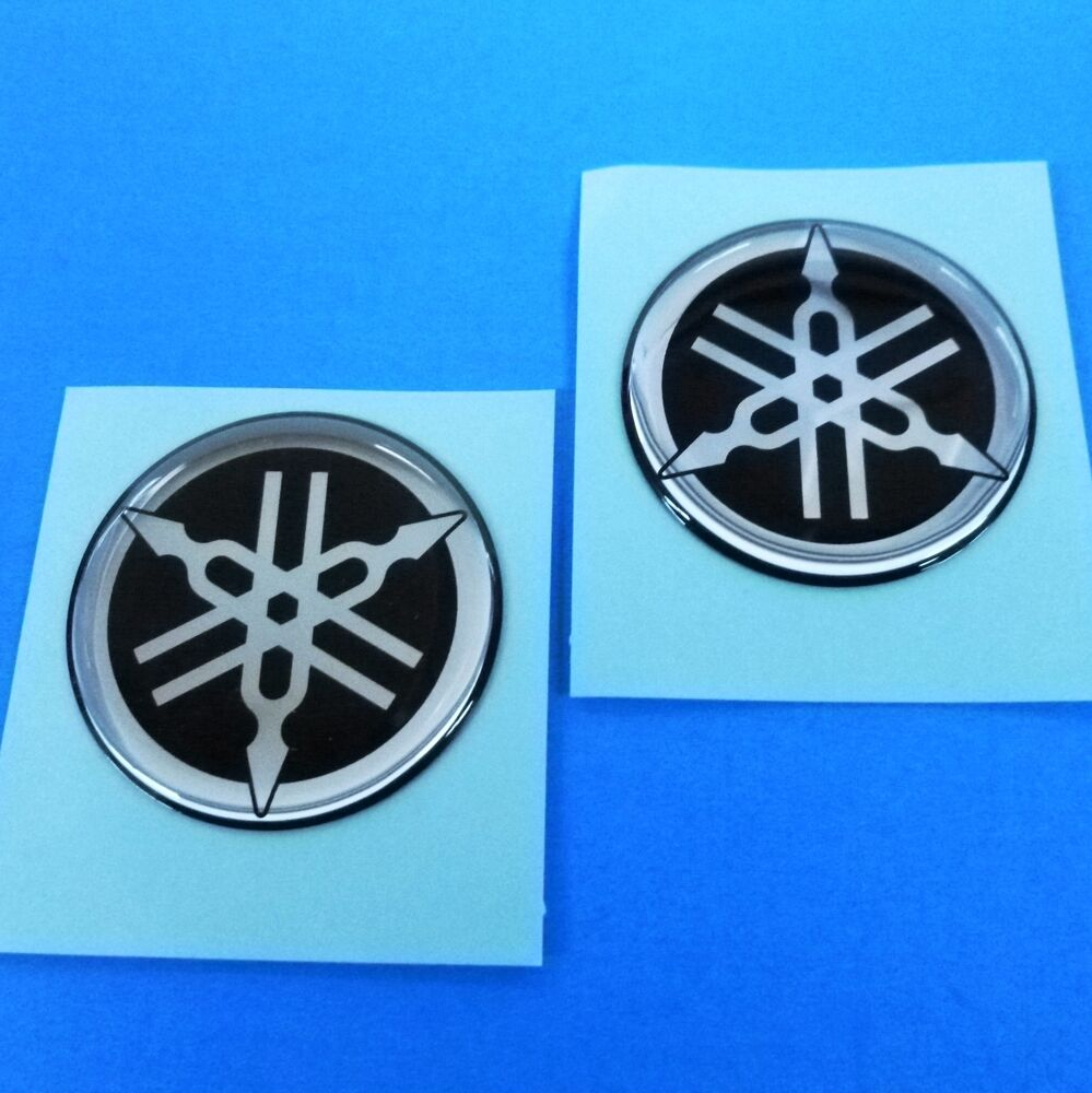 "New Set 37mm 1.5"" Yamaha Tank Badges Tuning Fork Emblems ..."