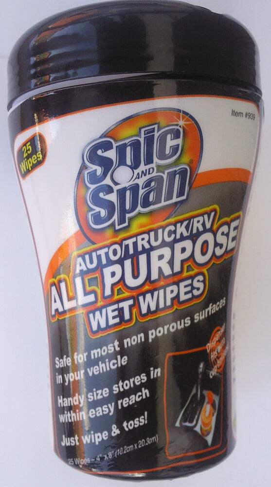 spic and span all purpose wet wipes for auto truck rv 25 wipes ebay. Black Bedroom Furniture Sets. Home Design Ideas