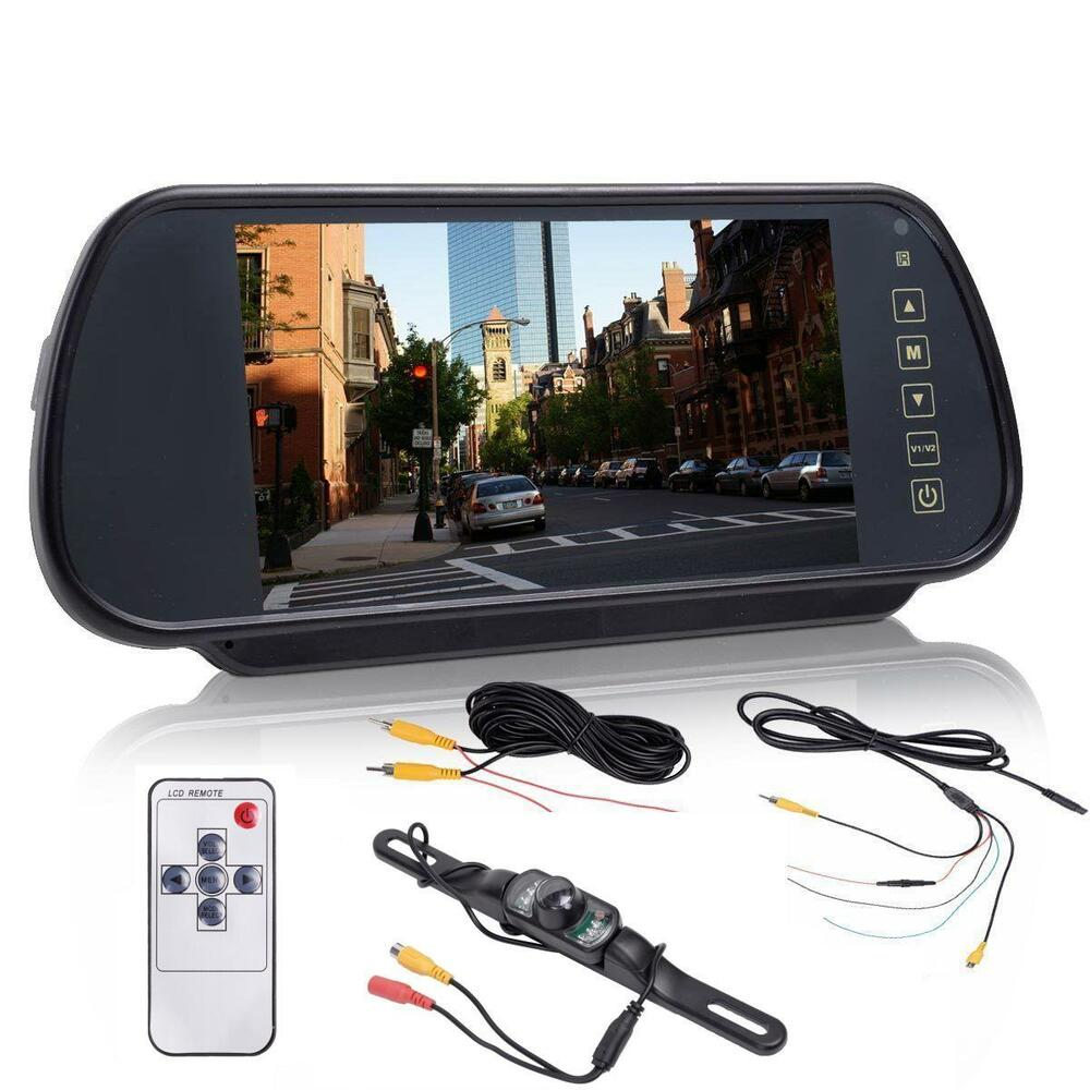 7 lcd screen car rear view backup parking mirror monitor camera night vision ebay. Black Bedroom Furniture Sets. Home Design Ideas