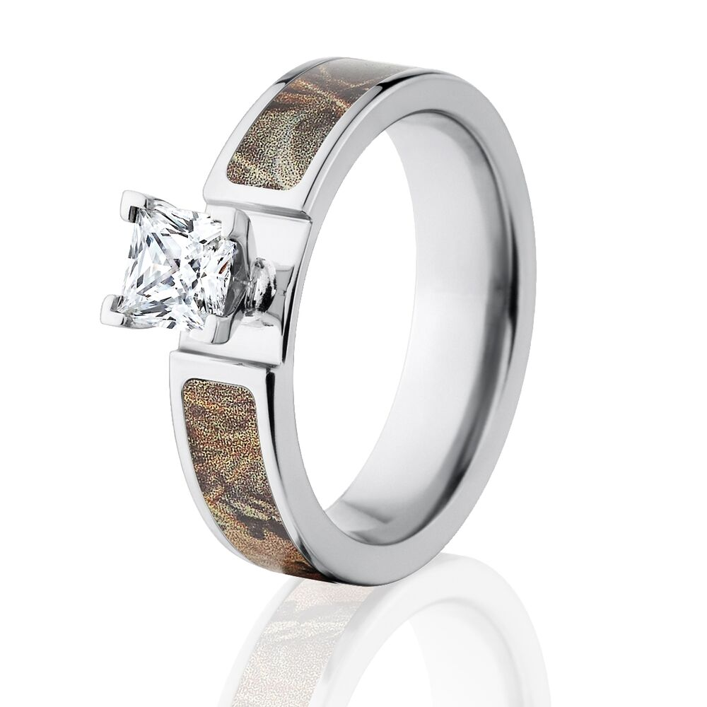 Camo Wedding Bands: Official Licensed RealTree Max 4 Engagement Bands 1CT CZ