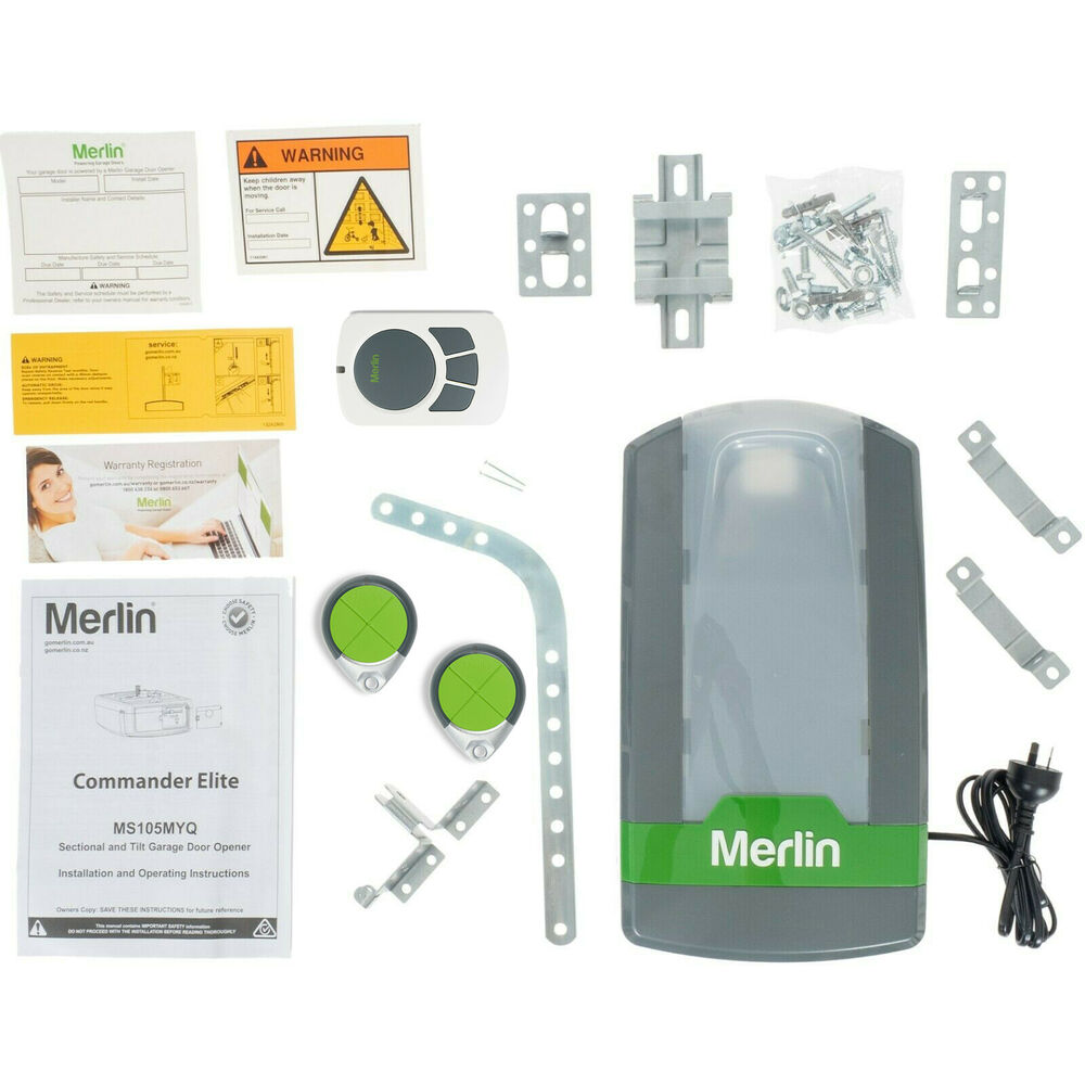 Sectional Panel Garage Door Opener Merlin Mt100evo