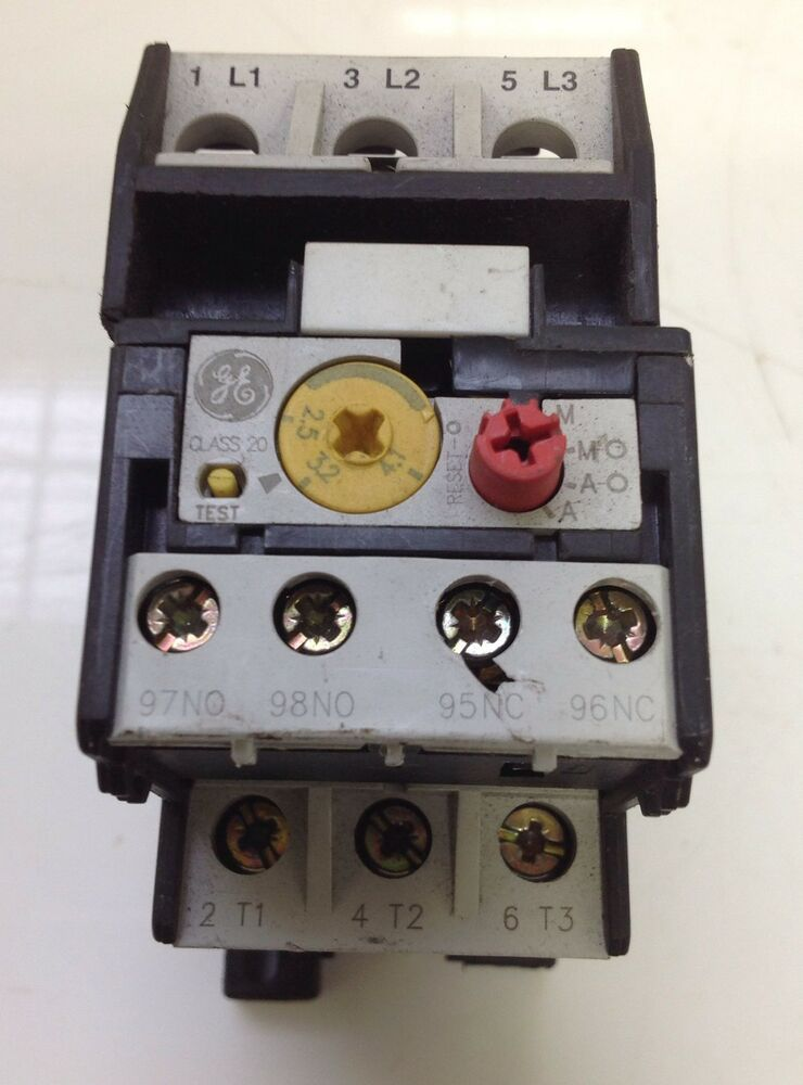 General electric thermal overload relay iec 947 4 1 pzb for General electric ac motor thermally protected