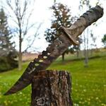 """13"""" TACTICAL SURVIVAL Full Tang Camo FIXED BLADE KNIFE Hunting Bowie w/ SHEATH"""